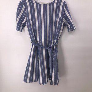 NWOT Tularosa blue white stripe dress